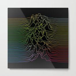 rainbow illustration - sound wave graphic Metal Print