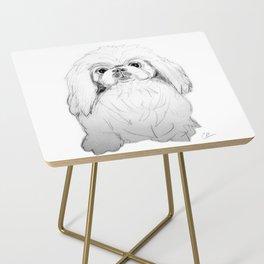 Cartoon Pekingese Dog Side Table