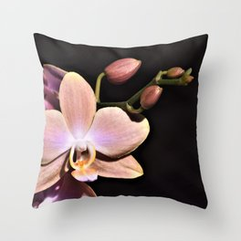 Dark Orchid Beauty Throw Pillow