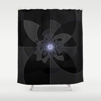 tron Shower Curtains featuring Tron Kaleidoscope by 2sweet4words Designs