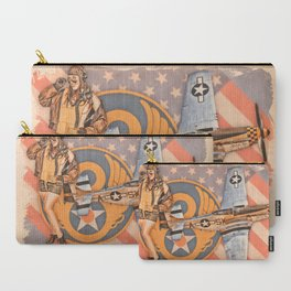 Aviation Pinups - P-51 Mustang Carry-All Pouch