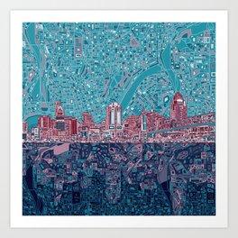 cincinnati city skyline Art Print