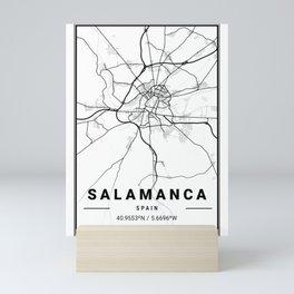 Salamanca Light City Map Mini Art Print