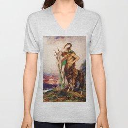 "Gustave Moreau ""Dead poet borne by centaur"" Unisex V-Neck"