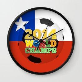 2014 World Champs Ball - Chile Wall Clock