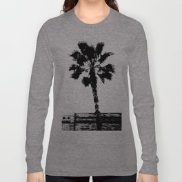 Black & White Palm Long Sleeve T-shirt
