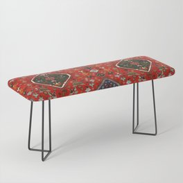 N65 - Colored Floral Traditional Boho Moroccan Style Artwork Bench