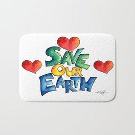 Save Our Earth by Kathy Morton Stanion Bath Mat