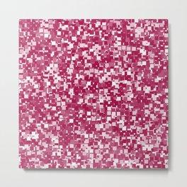 Cerise Pixels Metal Print