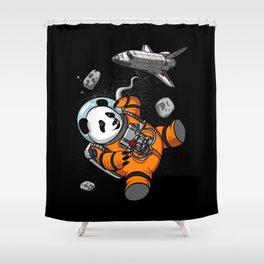 Panda Bear Space Astronaut Cosmic Animal Shower Curtain