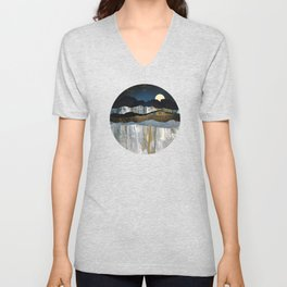 Painted Mountains Unisex V-Neck