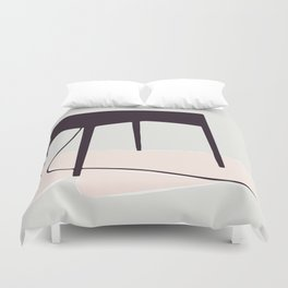 Minimal Table Pink Texture Duvet Cover