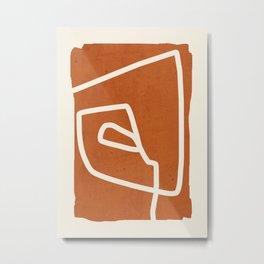 abstract minimal 57 Terracota Metal Print