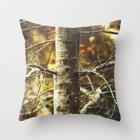 woodland Throw Pillows featuring Woodland by BURNEDINTOMYHE∆RT♥
