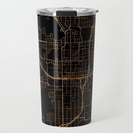 Black and gold Orlando map Travel Mug
