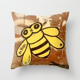 Barcelona Street Art - wall 010 Throw Pillow