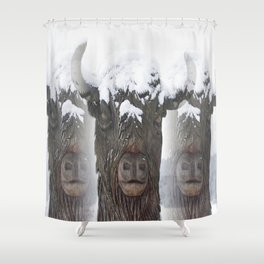 Bisons Shower Curtain