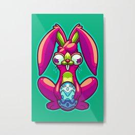 Egg Bunny Metal Print