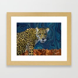 Leopard with the Sky in His Eyes Framed Art Print