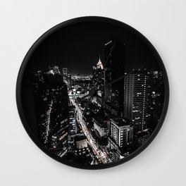 The Dark City (Black and White) Wall Clock