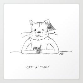 CAT • A • TONIC Art Print