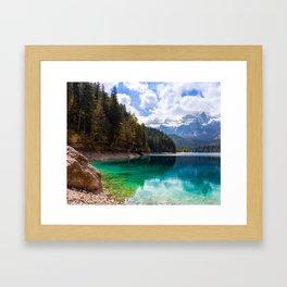 Tovel Lake Framed Art Print