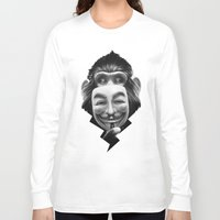 lion Long Sleeve T-shirts featuring Anonymous by Dr. Lukas Brezak