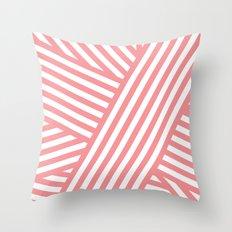 Coral Bandaids Throw Pillow