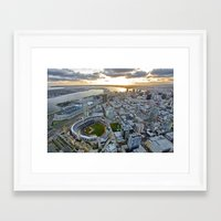san diego Framed Art Prints featuring San Diego by Travis Payne