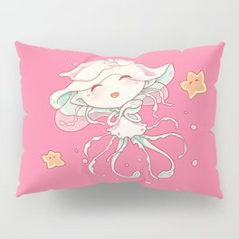 Cute Jellyfish Mermaid Pillow Sham
