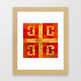 Katakouzenos coat of arms Framed Art Print