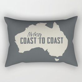 Coast to coast Rectangular Pillow