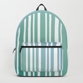 Chalky Pale ocean green stripes Backpack