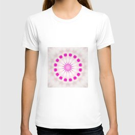 Bright Pink Simple Mandala T-shirt