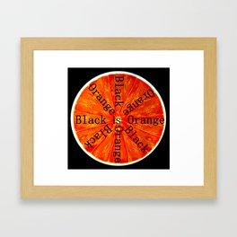 Black is Orange Framed Art Print