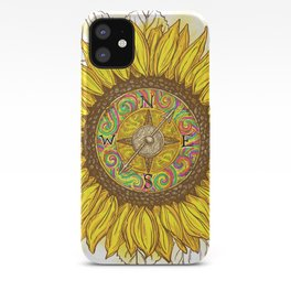 Sunflower Compass iPhone Case