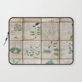 The Voynich Manuscript Quire 1 - Natural Laptop Sleeve