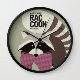 Hello Raccoon Wall Clock