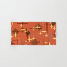 MidCentury Modern Pattern Burnt Orange Hand & Bath Towel