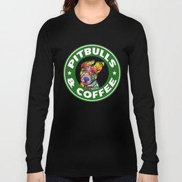 Colourful Pit Bulls, pitbull gift Long Sleeve T-shirt