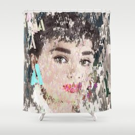 Audrey Type Abstract Art Shower Curtain