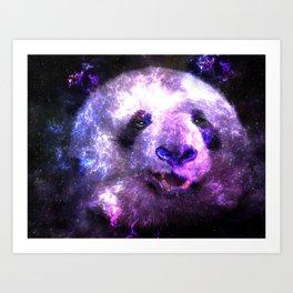 Galaxy Panda Colorful - Pink Edition Art Print