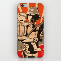 propaganda iPhone & iPod Skins featuring Propaganda Series by Alex.Raveland...robot.design.digital.art