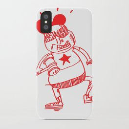 villain in red iPhone Case