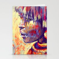 african Stationery Cards featuring African portrait by Marta Zawadzka