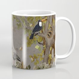 assembly of birds and one cute agouti Coffee Mug