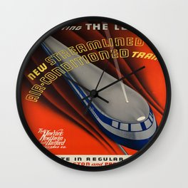 Vintage poster - The Comet Wall Clock