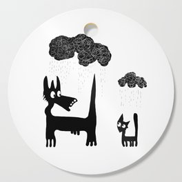 It's Raining Cats and Dogs Cutting Board