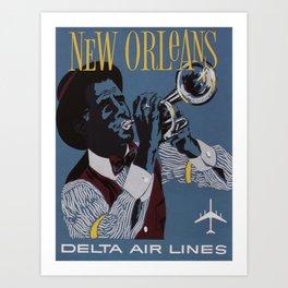 Vintage poster - New Orleans Art Print