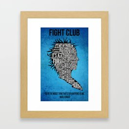 Typography Marla Singer Framed Art Print